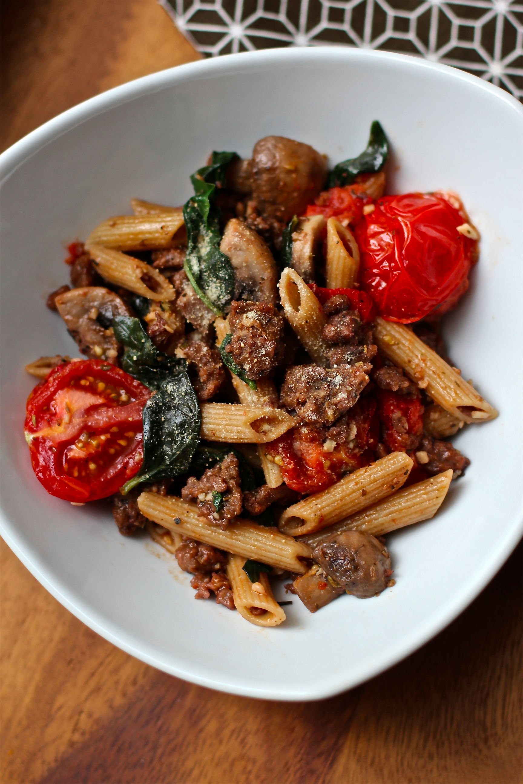Simple vegan italian sausage pasta dinner meet the shannons forumfinder Choice Image